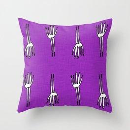 Skeletal Hand Purple #Halloween Throw Pillow