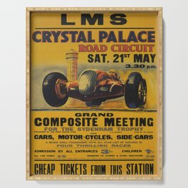 retro Crystal Palace Serving Tray