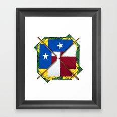 Altered State: TX Framed Art Print