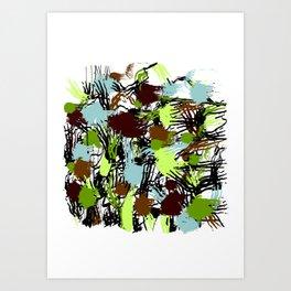 Colored spots for a modern interior, modern design Art Print