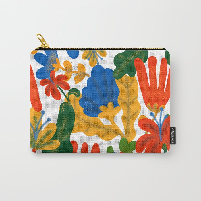 Tropical Flower Pattern II Carry-All Pouch