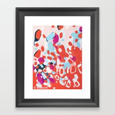 Nail Polish on the Carpet Framed Art Print