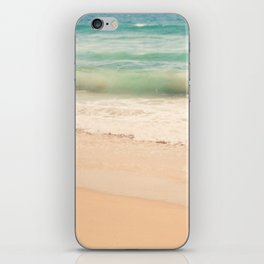 beach. Sea Glass ocean wave photograph. iPhone Skin