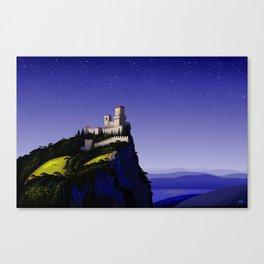 San Marino Castle Canvas Print