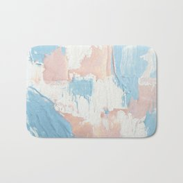Pink and Blue Abstract Bath Mat