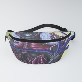 Portrait of Female Drow High Priestess of Lolth Fanny Pack