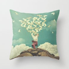 Pigeon Composer Throw Pillow