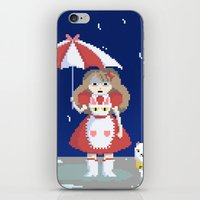 puppycat iPhone & iPod Skins featuring Bee and Puppycat in the Rain by Paul Scott (Dracula is Still a Threat)