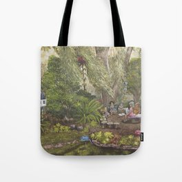Faerie Garden Letters Tote Bag