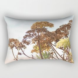 Succulent wild flowers by the sea Rectangular Pillow