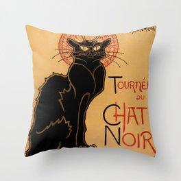 Tournée du Chat Noir de Rodolphe Salis (High Resolution) Throw Pillow