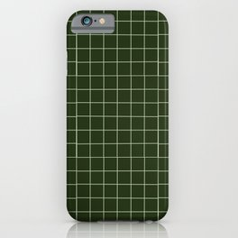 green grid iPhone Case