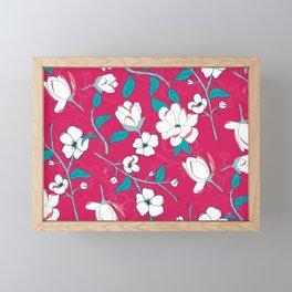 Southern Charm Pink - Magnolias Framed Mini Art Print