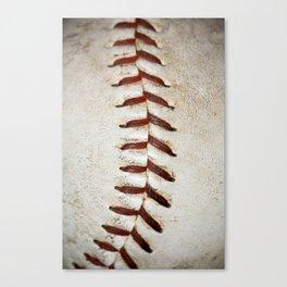 Vintage Baseball Stitching Canvas Print