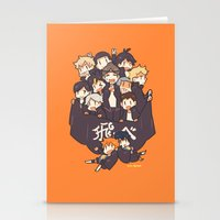 haikyuu Stationery Cards featuring Haikyuu!! Karasuno Team by Kim Quim