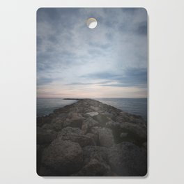 The Jetty at Sunset - Vertical Cutting Board