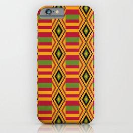 African kente pattern 4 iPhone Case