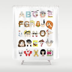 Child of the 00s Alphabet Shower Curtain