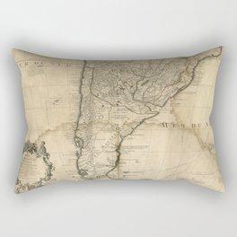 Map of Paraguay & Chili, South America (1718) Rectangular Pillow