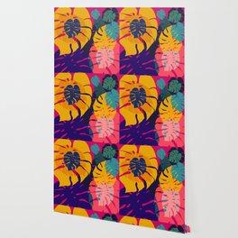 Aloha Floral Pop Art Pattern Wallpaper