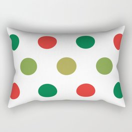 Christmas Polka Dots Rectangular Pillow
