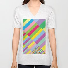 Stairs to Office  [COLORS] [COLOR] [COLORFUL]  Unisex V-Neck