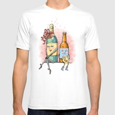 Bottled Romance MEDIUM Mens Fitted Tee White