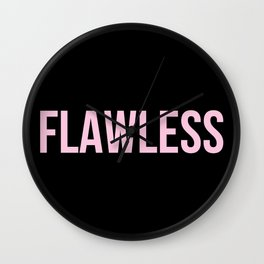 Flawless - Woke Up Like This B yonce Queen B Wall Clock