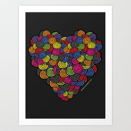 My Happy Heart Art Print
