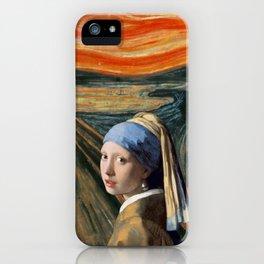 The Scream of Pearl Earring Girl iPhone Case