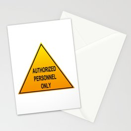 Authorized Personnel Only with American spelling Stationery Cards