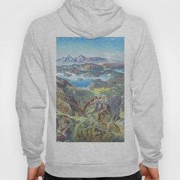 Heinrich Berann - Panoramic Painting Yellowstone National Park (1991) Hoody