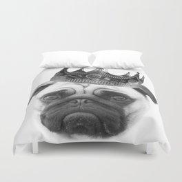 Notorious PUG Crown Duvet Cover