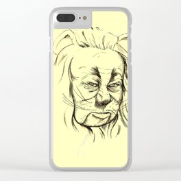 Lion - Yellow Pathway Clear iPhone Case