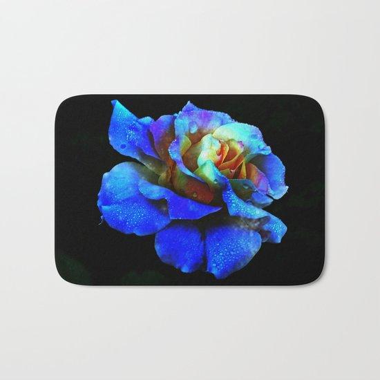 Sapphire Heaven Rose Bath Mat