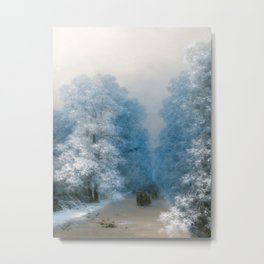 Ivan Aivazovsky - Winter landscape Metal Print