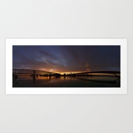 Sunset symmetry Art Print