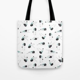 Pilates Yoga Poses Tote Bag