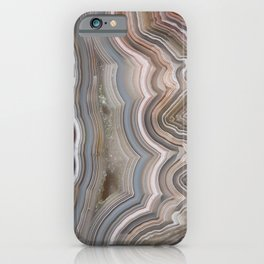 Striped Agate Crystal iPhone Case
