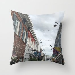 Hidden Alleyway Throw Pillow