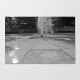 Chasing fountains Canvas Print