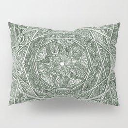 Milkweed Mandala   Green Pillow Sham