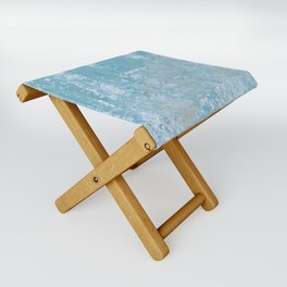 Vintage Galvanized Metal Folding Stool