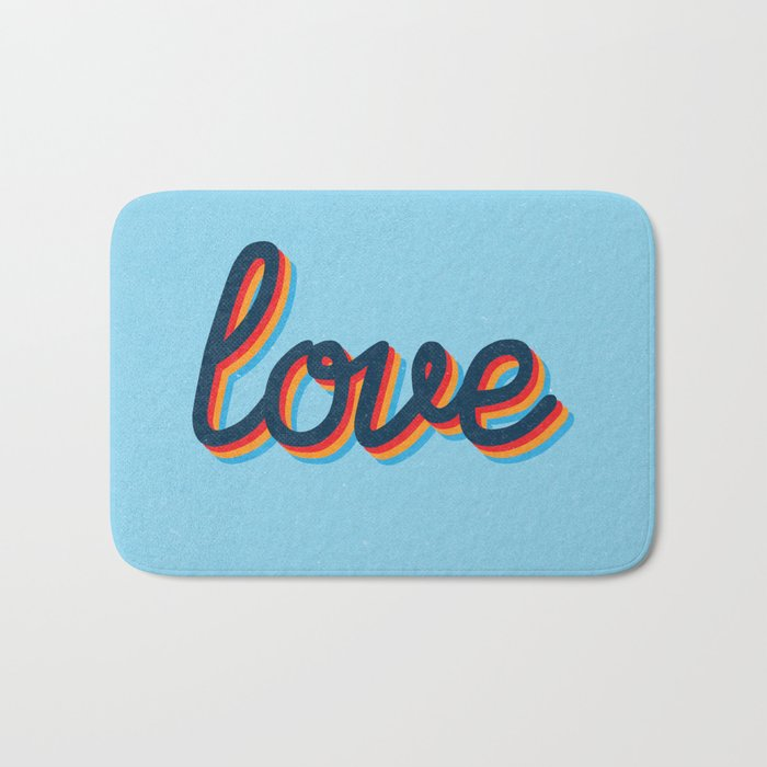 Love - blue version Bath Mat