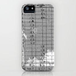 Monochromatic Flight Log iPhone Case