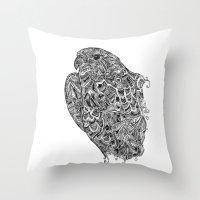 hawk Throw Pillows featuring Hawk by kayse wieneke