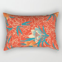 Retropico ~ Orange Rectangular Pillow