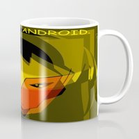 android Mugs featuring ANDROID. by capricorn