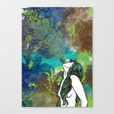 Blow Your Troubles Away Canvas Print
