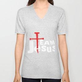 Team Jesus Preacher Or Evangelist Gift Unisex V-Neck